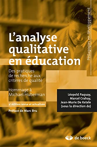 Analyse qualitative en éducation hommage à mi. Huberman