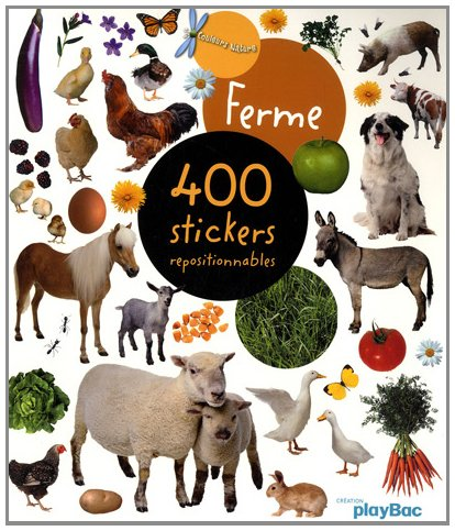 400 stickers repositionnables Ferme