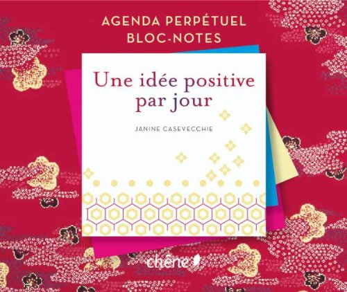 Agenda perpetuel bloc notes une idée positive