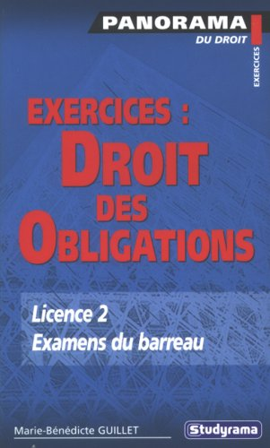 Exercices : Droit des obligations