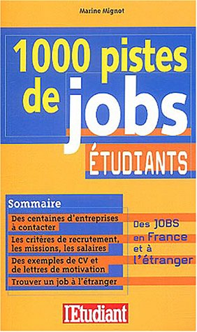 1000 pistes de job étudiants