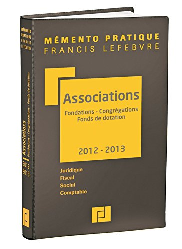 Mémento Associations-Fondations 2012-2013