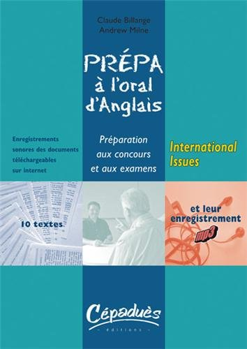 Prépa à l'oral d'anglais : International Issues