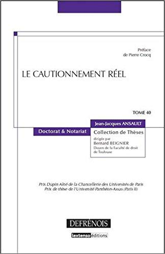 Le cautionnement réel
