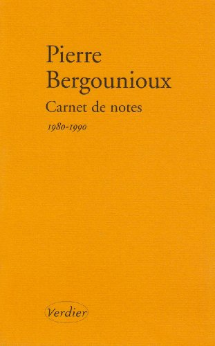 Carnet de notes : Journal 1980-1990
