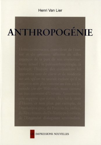 Anthropogénie