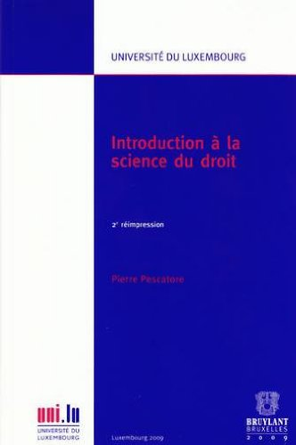Introduction à la science du droit : 2e réimpression