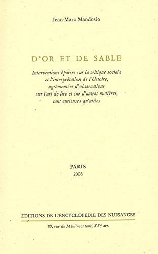 D'or et de sable