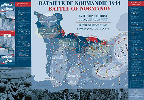 Bataille de Normandie, Carte Historique 1944/Battle of Normandy Historic Map, 1944