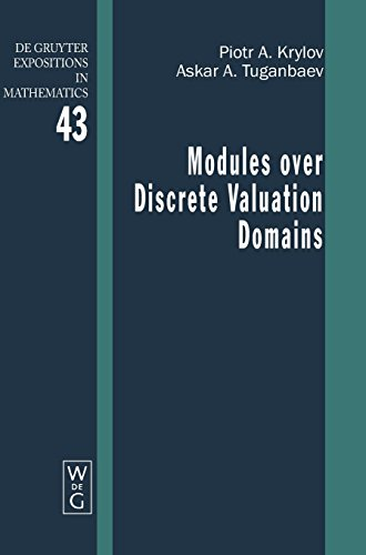 PDF Modules over Discrete Valuation Domains de Gruyter Expositions in Mathematics