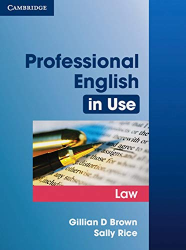Professional English in Use Law: Book with answers