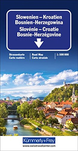 Slovenia and Croatia (International Road Map) (German Edition)