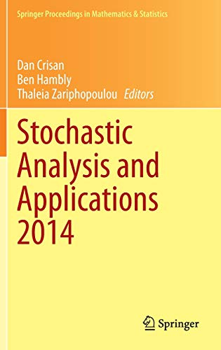 PDF Stochastic Analysis and Applications 2014 In Honour of Terry Lyons