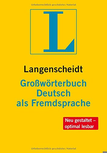 Langenscheidts Grossworterbuch Deutsch Als Fremdsprache: Langenscheidts Grossworterbuch Deutsch Als Fremdsprache Inklusive CD-Rom (German Edition)