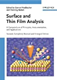 Surface and thin film analysis [electronic resource] : a compendium of principles, instrumentation, and applications