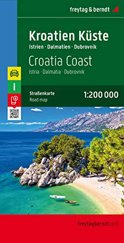 Croatian Coast: 1:200,000.  Istria - Dalmatia - Dubrovnik (English, Spanish, French, Italian and German Edition)