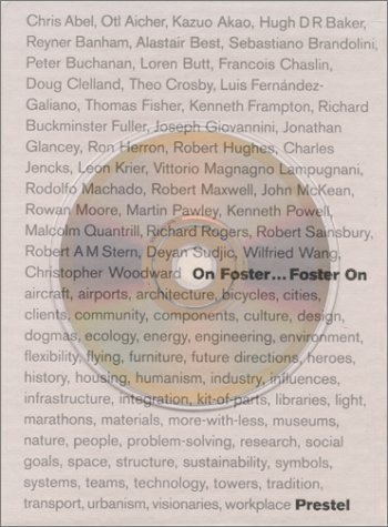 On Foster...Foster on by Norman Foster (Editor), David Jenkins (Editor)