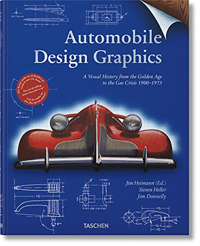 Automobile design graphics : a visual history from the Golden Age to the gas crisis 1900-1973 / Jim Heimann (ed.) ; Steven Heller, Jim Donnelly ; [German translation, Thomas J. Kinne ; French translation, François Dirdans].