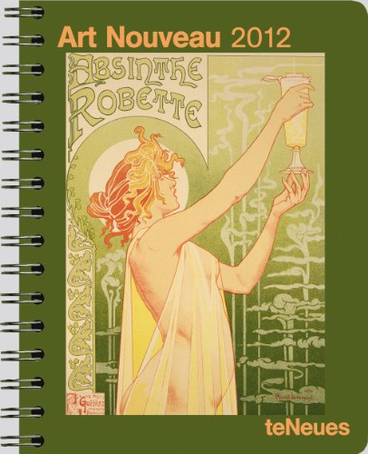 2012 Art Nouveau Deluxe Engagement Calendar (English, German, French, Italian, Spanish and Dutch Edition)