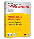 Word Explorer 2.0 Pro Medizinisches Wörterbuch Latein-Deutsch, Deutsch-Latein. CD-ROM für Windows Vista/XP/2000 o. Mac ab OS X 10.3
