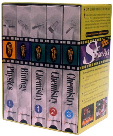 VHS The Standard Deviants - Super Science Pack (Physics 1, Biology, Chemistry 1-3)