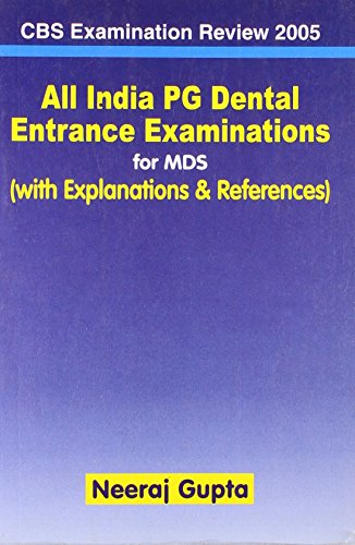 ALL INDIA PG DENTAL ENTRANCE EXAMINATIONS FOR MDS