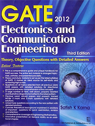 GATE 2012  ELECTRONICS AND COMMUNICATION ENGINEERING , 3ED