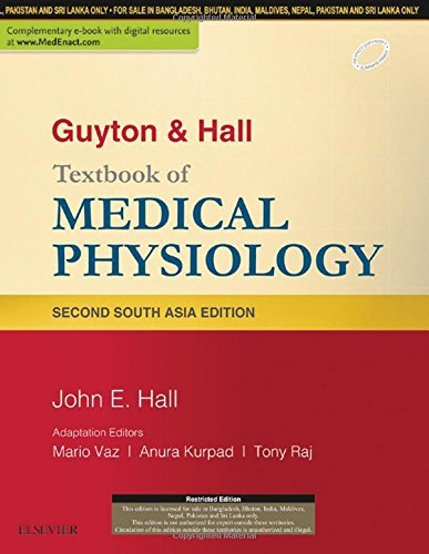 GUYTON & HALL TEXTBOOK OF MEDICAL PHYSIOLOGY: SECOND SOUTH ASIA EDITION