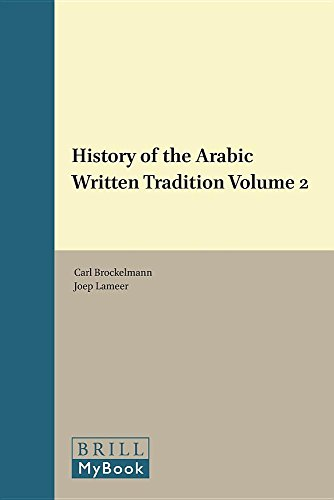 PDF History of the Arabic Written Tradition Volume 2 Handbook of Oriental Studies Section 1 The Near and Middle East