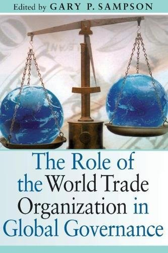 The role of the World Trade Organization in global governance book cover