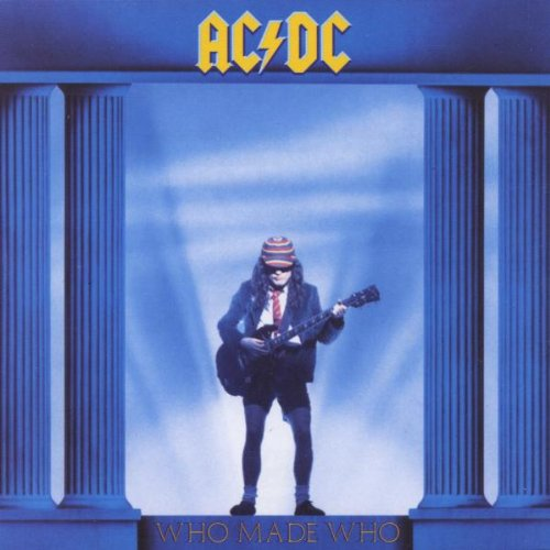 Original album cover of Who Made Who by AC, DC