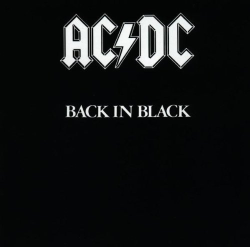 Original album cover of Back in Black by AC/DC