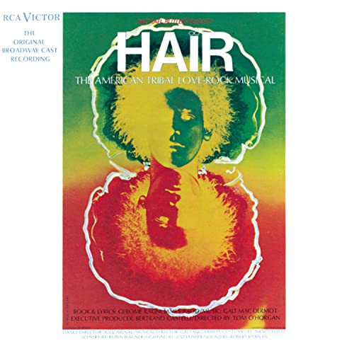 Original album cover of Hair - The American Tribal Love Rock Musical (1968 Original Broadway Cast) by Galt MacDermot, James Rado, Gerome Ragni