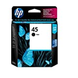 HP No. 45 Black Inkjet Print Cartridge (51645A)