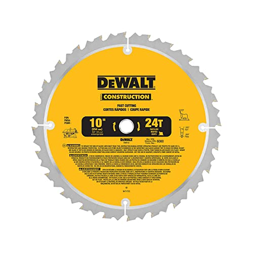 Dewalt dw3112 series 20 10 24t thin kerf table saw blade for 10 inch table saw comparison