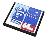 Viking CF64M 64MB Compact Flash Card for a MP3 player, PDA or digital camera by Viking Components