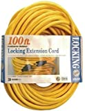 Coleman Cable 09209  12/3 SJTW 100' 300-Volt Yellow Extension Cord