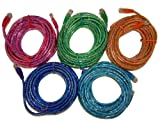 Hawking Technology 25' Cat 5 Cables (5-Pack)