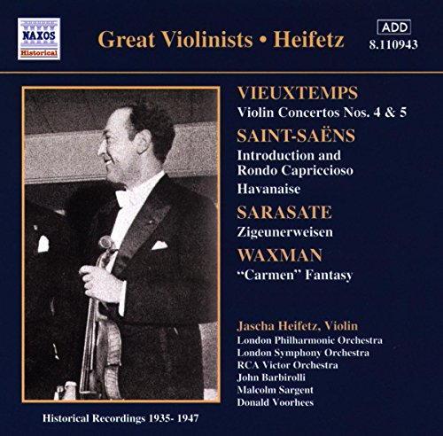 Violinist Jascha Heifetz  plays Henri Vieuxtemps at Amazon