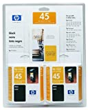 HP No. 45 Twin Pack Black Inkjet Print Cartridges (51645A, C6650AN)