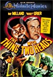 The Thing with Two Heads - movie DVD cover picture