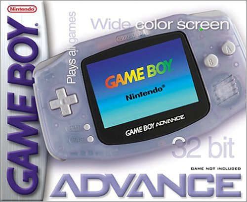 Game Boy Advance   Console in Glacier by Nintendo � Game Boy Advance