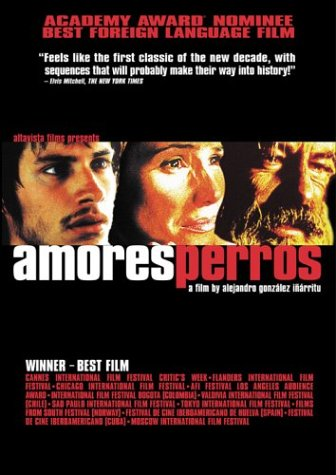 amores perros images. amores perros dvd cover.
