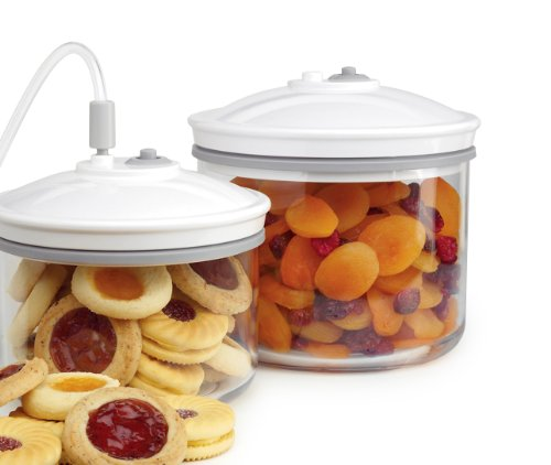 PHD FoodSaver 2-Piece, 1.5-Quart Canister Set by Tilia