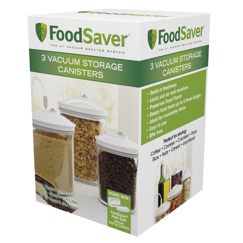 PHD FoodSaver 3-Piece Canister Set
