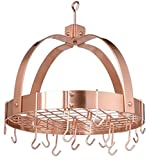 Dome Copper Pot Rack with Grid