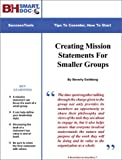 Creating Mission Statements for Smaller Groups