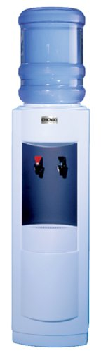 Ideal for home or office, this electric appliance delivers hot and cold water from two spigots and comes with a removable bottle cover for a sleek, contemporary look