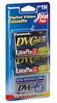 Panasonic 2-Pack of 60-Minute MiniDV Tapes with Head Cleaner (AYDVM60EJ3C)