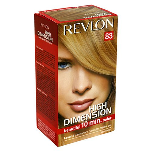 Revlon High Dimension 10 Minute Permanent Haircolor, Medium Golden Blonde 83